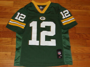 NFL GREEN BAY PACKERS AARON RODGERS FOOTBALL JERSEY BOYS MEDIUM 10-12 EXCELLENT