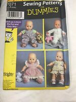 "7071 Simplicity Sewing Pattern 16-18"" 12-14"" 20-22"" Doll Clothes Bloomers"