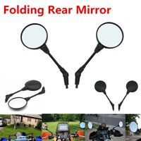 10mm Thread Mirror Folding Foldable Rear View Side Mirror Round for Motorcycle