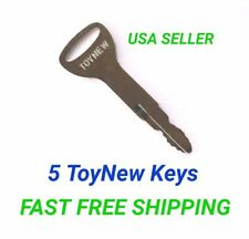 (5) ToyNew Toyota Forklift Equipment Ignition Keys .New Style replaces A62597.