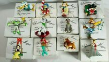 DISNEY GROLIER CHRISTMAS MAGIC 26231 SERIES - LOT OF 12 ORNAMENTS WITH BOXES