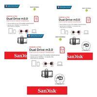 SanDisk USB 3.0 Ultra Dual Drive MicroUSB Speicherstick 16GB 32GB 64GB für Handy