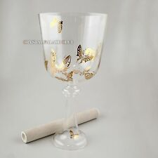 Butterfly Crystal Singing Bowl In Grail Shape Note F Perfect Pitch 6""