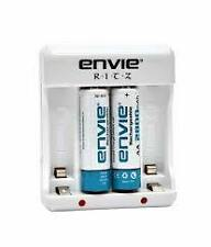 ENVIE 2800mAh Ni-MH AA Battery 2pcs + RITZ 4 Cell Charger + Wrnty