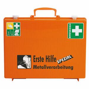 SÖHNGEN Erste-Hilfe-Koffer Spezial Metallverarbeitung + Wandhalterung DIN 13157