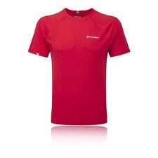 Camiseta de deporte de hombre rojos de poliéster