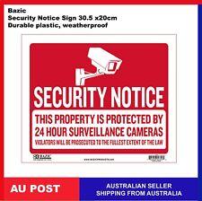 Bazic Security Notice CCTV 24 Hour Surveillance Camera Sign 305 x 200mm