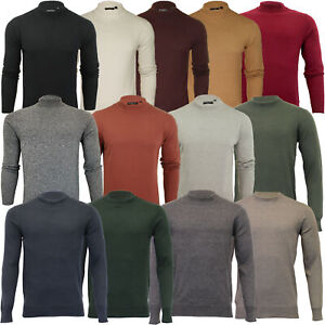 Mens Turtle Neck Jumper By Brave Soul Knitted Sweater Top Polo Pullover Fashion