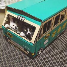 DIY funny cat tower kitten box play house toyota car cardboard toy