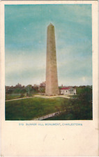 Early 20th Cent Bunker Hill Monument Charlestown Boston Massachusetts Postcard
