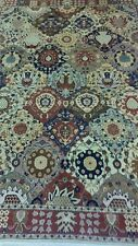 Decorative Earthy Asymmetric Hand Knotted Multi Diamond Tabriz  Area Rug 8'x11'