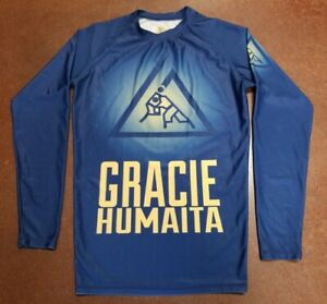 Gracie Humaita Longsleeve Rashguard Size S Jui-Jitsu Competituon Team