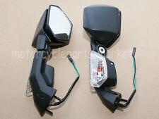 Side Rear View Mirrors Turn Signal For Kawasaki Ninja ZX10R 2004-2010 ZX6R 05-08