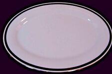 "Noritake 'Horizon' 14"" Platter  White China w/ Greek Key Design - NEW"