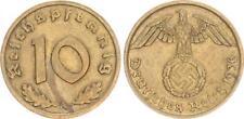 Drittes Reich 10 Pfennig 1936 A seltenes Jahr ss-vz