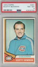 1974 Topps Hockey #261 Scotty Bowman Canadiens HOF Rookie PSA MINT 8 NM - MINT