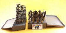 "Silver & Deming Drill Bit Set 1/16-1"" MOLY M7 Drills Drill Hog Lifetime Warranty"