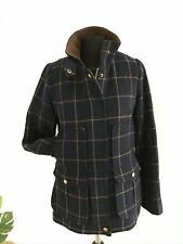 Joules Field Coat Jacket Navy Tweed Check size 8  Wool Riding Hunting Shooting