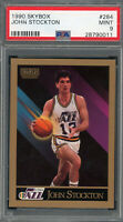 John Stockton Utah Jazz 1990 Skybox Basketball Card #284 Graded PSA 9 MINT