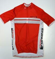 ✔️ ENDURA FS260-PRO Short Sleeve Bike Cycling Jersey Shirt Red Size M Medium