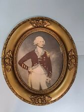 Deep Antique Gold Oval Picture Frame French victorian Noble Back 8 x 10