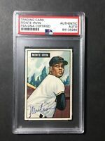 1951 Bowman #198 Monte Irvin Signed Baseball Card RC PSA/DNA New York Giants HOF