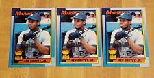 Topps 1990 Ken Griffey Jr. Seattle Mariners #336 Lot of 3