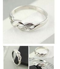 FD1500 Elegant Simple Style Wheat Ring Silver Plated Ring Fashion Jewelry Ring
