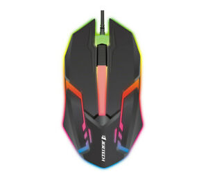 Jertech M200 Warwick RGB Lighting Professional Wired Gaming Mouse ( Black Color)