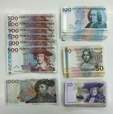 More details for 9100.00 sek in redeemable swedish kronor banknotes (approx. £763 value) lot 2687