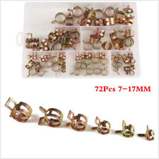72Pcs Car Hose Clamp Fuel Line Clamp Spring Clips For Water Plumbing Tube Pipe