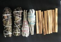 2 California White Sage,Palo Santo 8 sticks ,2 Yerba Santa Smudge 3 Pack Bundle