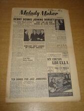 MELODY MAKER 1948 MARCH 20 DENNY DENNIS CAROLE CARR DENNY VAUGHAN GERALDO +
