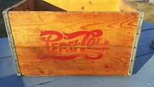 Vintage Double Two Dot Pepsi Cola Wood Crate Box Case Of Bottles 1940'S
