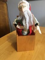 Vintage 1980's Jax of Maine Santa Claus Jack In The Box Rare Christmas