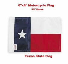 """Pro Pad Motorcycle Flag 6""""x9"""" State of Texas Flag Fits 3/8"""" Flag Poles"""