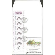 """CARNET BC2578A OBLITERE 1er JOUR """"journée du timbre"""" 1989"""