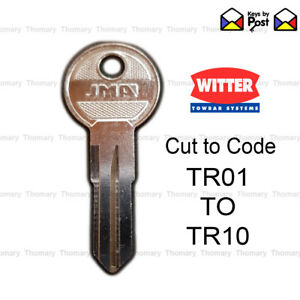 Witter Towbar Key TR01, TR02, TR03, TR04, TR05, TR06, TR07, TR08, TR09, TR10