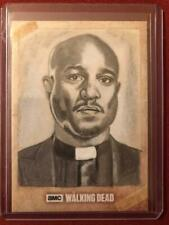 THE WALKING DEAD SKETCH CARD OF SETH GILLIAM AS FATHER GABRIEL BY MARCIA DYE 1/1
