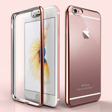 ShockProof Silicone Bumper Clear Slim Case Cover For Apple iPhone 7 6 6S Plus 5S