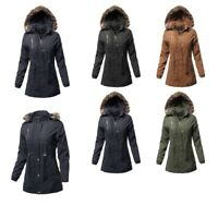 FashionOutfit Women's Casual Vintage Style Faux Fur Lining Long Jacket