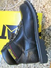 NEW CATERPILLAR CAT STEEL TOE WORK BOOTS MENS 10 STYLE: ELECTRIC BLACK