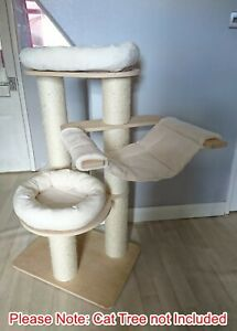 Handmade IVORY Removable Pet Cat Bed Replacement Set for Natural Paradise Large