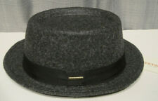 STETSON wool blend PORKPIE FEDORA HAT color dark grey XL
