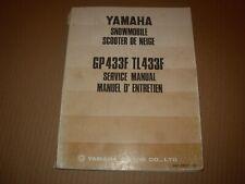 1973 Yamaha GP433F TL433F Snowmobile Service Manual