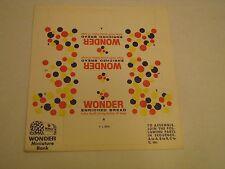 Wonder Bread Unfolded Coin Bank Sheet