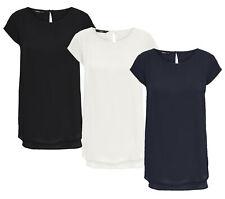 ONLY Damen Bluse T-Shirt onlNOVA S/S TOP SOLID 9 WVN Tunika Business kurzarm NEU