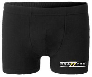 Brazzers Boxer Uomo Intimo personalizzato tributo Logo Divertente Adult