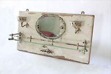 antique bathroom mirror cup toothbrush holder | san o la bathroom shelf vtg