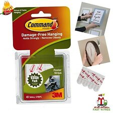 Command 48 Poster Adhesive Strip Tape Picture Hang Wall Sticky Easy Remove Clean